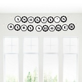 Chevron Black and White - Personalized Baby Shower Garland Letter Banners