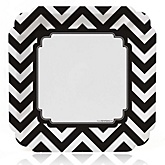Chevron Black and White - Baby Shower Dinner Plates - 8 ct