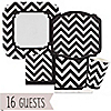 Chevron Black and White - Everyday Party 16 Big Dot Bundle