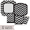 Chevron Black and White - Everyday Party 32 Big Dot Bundle
