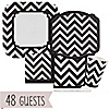 Chevron Black and White - Everyday Party 48 Big Dot Bundle
