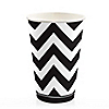 Chevron Black and White - Everyday Party Hot/Cold Cups - 8 ct