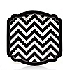 Chevron Black and White - Everyday Party Dessert Plates - 8 ct