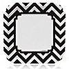 Chevron Black and White - Everyday Party Dinner Plates - 8 ct