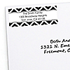 Chevron Black and White - Personalized Everyday Party Return Address Labels - 30 ct