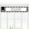 Chevron Black and White - Personalized Everyday Party Banners