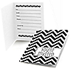 Chevron Black and White - Everyday Party Fill In Invitations - 8 ct