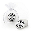 Chevron Black and White - Personalized Everyday Party Lip Balm Favors