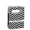 Chevron Black and White - Personalized Everyday Party Mini Favor Boxes