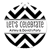 Chevron Black and White - Round Personalized Everyday Party Tags - 20 ct