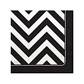 Chevron Black and White - Baby Shower Beverage Napkins - 16 ct