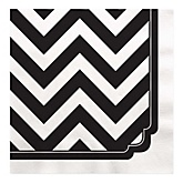 Chevron Black and White - Baby Shower Luncheon Napkins - 16 ct