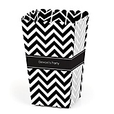 Chevron Black and White - Personalized Party Popcorn Favor Boxes