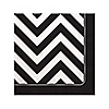 Chevron Black and White - Everyday Party Beverage Napkins - 16 ct