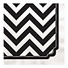 Chevron Black and White - Everyday Party Luncheon Napkins - 16 ct