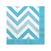 Blue Chevron - Baby Shower Beverage Napkins - 16 Pack