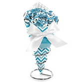 Blue Chevron - Baby Shower Candy Bouquets with Frooties
