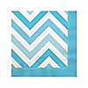 Chevron Blue - Everyday Party Beverage Napkins - 16 ct