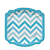 Chevron Blue - Everyday Party Dessert Plates - 8 ct