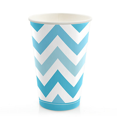 Chevron Blue - Bridal Shower Hot/Cold Cups - 8 ct...