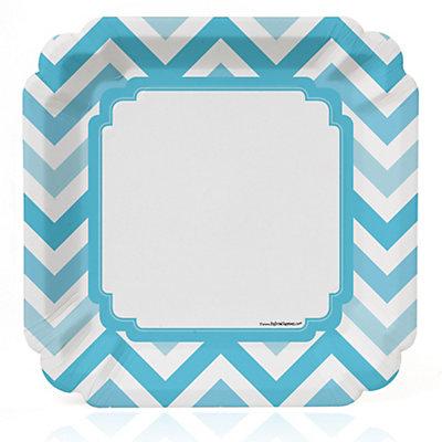 Chevron Blue - Bridal Shower Dinner Plates - 8 ct...
