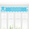 Chevron Blue - Personalized Everyday Party Banners