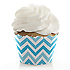 Chevron Blue - Everyday Party Cupcake Wrappers & Decorations