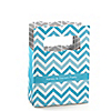 Chevron Blue - Personalized Everyday Party Mini Favor Boxes