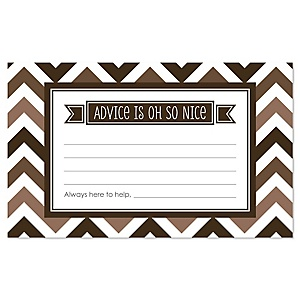 Chevron Brown - Party Advice Cards - 18 ct.