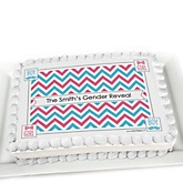 Chevron Gender Reveal - Personalized Baby Shower Cake Image Topper