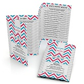 Chevron Gender Reveal - Fabulous 5 Personalized Baby Shower Games