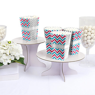 Chevron - Personalized Baby Shower Popcorn Boxes