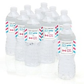 Chevron Gender Reveal - Personalized Baby Shower Water Bottle Sticker Labels - Set of 10