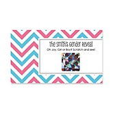 Boy Gender Reveal Chevron - Personalized Baby Shower Scratch-Off Game – 22 Count