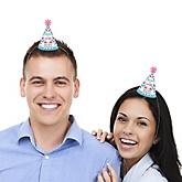 Chevron Gender Reveal - Personalized Mini Cone Gender Reveal Party Hats - Small Little Party Hats - Set of 10