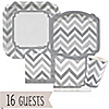 Chevron Gray - Everyday Party 16 Big Dot Bundle