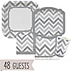 Chevron Gray - Everyday Party 48 Big Dot Bundle