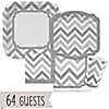 Chevron Gray - Everyday Party 64 Big Dot Bundle