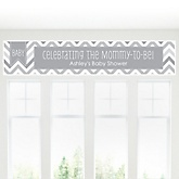Chevron Gray - Personalized Baby Shower Banners