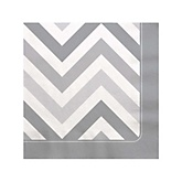 Gray Chevron - Baby Shower Beverage Napkins - 16 Pack