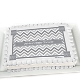 Gray Chevron - Personalized Baby Shower Cake Image Topper