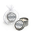 Chevron Gray - Personalized Baby Shower Candle Tin Favors