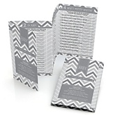 Chevron Gray - Personalized Baby Shower Fabulous 5 Games
