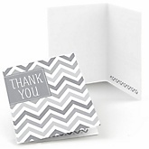 Chevron Gray - Baby Shower Thank You Cards - 8 ct