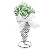Gray Chevron - Baby Shower Candy Bouquets with Frooties