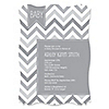 Chevron Gray - Personalized Baby Shower Invitations