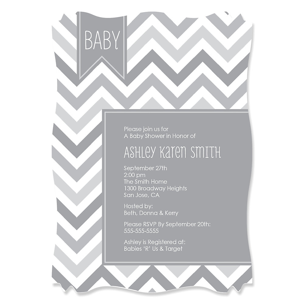 Black And White Baby Shower Invitations – gangcraft.net
