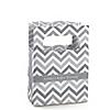 Chevron Gray - Personalized Baby Shower Mini Favor Boxes