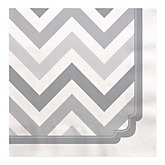 Chevron Gray - Baby Shower Luncheon Napkins - 16 ct