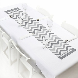 Chevron Gray - Personalized Party Petite Table Runner